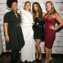 "Shauntele, Engie Hassan, Iman Hussein, and Marcy Clark pose during the EngieStyle one year anniversary, ""A Tale of the Black Dress"", fashion presentation."