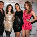 "Steven Aninch, Emily Endean, Stephanie Luzuriaga, and Ashley Crossman pose during the EngieStyle one year anniversary, ""A Tale of the Black Dress"", fashion presentation."